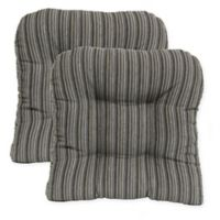 Huntington Non-Skid Chair Pad in Grey (Set of 2)