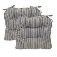 Huntington Boxed Edge Seat Cushion in Grey (Set of 2)