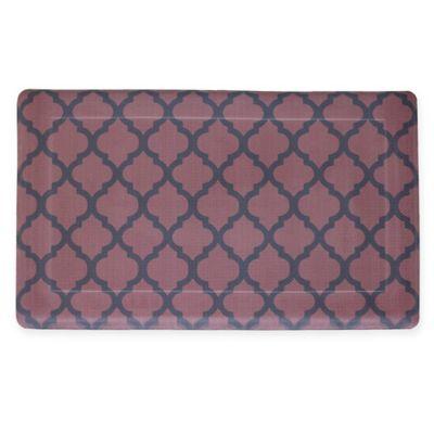 Quatrefoil 18 Inch X 30 Inch Anti Fatigue Gel Kitchen Mat In Red