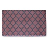 Quatrefoil 18-Inch x 30-Inch Anti-Fatigue Gel Kitchen Mat in Red/Black