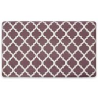 Quatrefoil 24-Inch x 36-Inch Anti-Fatigue Gel Kitchen Mat in Chocolate/Ivory