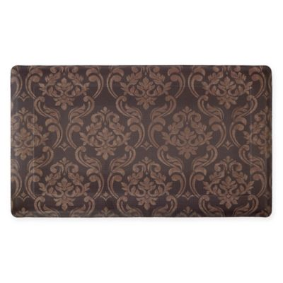chain damask 18 inch x 30 inch anti fatigue gel kitchen mat in. Interior Design Ideas. Home Design Ideas