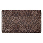 Chain Damask 24-Inch x 36-Inch Anti-Fatigue Gel Kitchen Mat in Chocolate