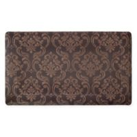 Chain Damask 18-Inch x 30-Inch Anti-Fatigue Gel Kitchen Mat in Chocolate