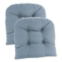 Klear Vu Gripper® Mini Gingham Chair Pads in Blue (Set of 2)