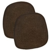 Klear Vu Gripper® Tonic Bistro Chair Pads in Brown (Set of 2)