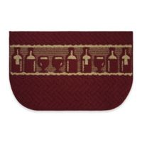 Structures Merlot Textured Loop 18-Inch x 30-Inch Wedge Kitchen Mat in Red