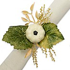 Excell White Pumpkin Napkin Ring