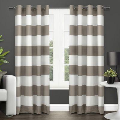 Exclusive Home Surfside 84 Inch Grommet Top Window Curtain Panel Pair In  Black Pearl
