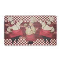 Chef Gear Chef Marcello Gelness 18-Inch x 30-Inch Anti-Fatigue Kitchen Mat in Red