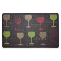 Chef Gear Wine Typography Gelness 18-Inch x 30-Inch Anti-Fatigue Kitchen Mat
