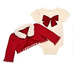 Baby Starters® Size 3M 2-Piece Holiday Bodysuit and Cardigan Set in Red/White