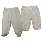 Sterling Baby Size 9M 2-Pack Open/Footed Pant in Grey