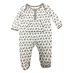 Sterling Baby Size 3M Triangles Footed Coverall in White