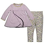 Burt's Bees Baby® Size 3M 2-Piece Organic Cotton Pointelle Dress and Floral Legging Set in Lilac