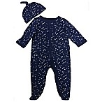 Sterling Baby Newborn 2-Piece Constellations Footie and Hat Set in Navy