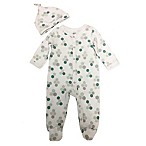 Sterling Baby Size 3M 2-Piece Honeycomb Footie and Hat Set in White