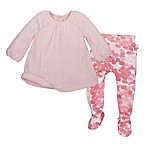 Burt's Bees Baby® Size 6M 2-Piece Organic Cotton Pointelle Dress and Footed Pant Set in Pink