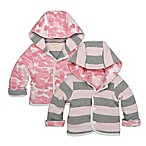 Burt's Bees Baby® Newborn Stripe/Leaf Print Organic Cotton Reversible Jacket