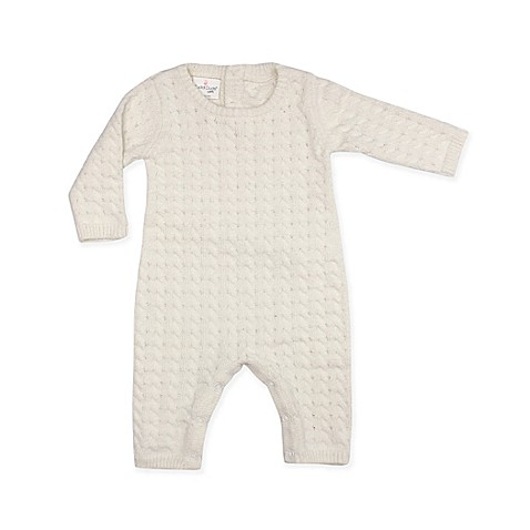 Cuddl Duds® 2-Piece Cable Knit Coverall in Ivory
