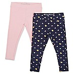Freestyle Revolution Size 3-6M 2-Pack French Terry Hearts Legging in Pink/Black