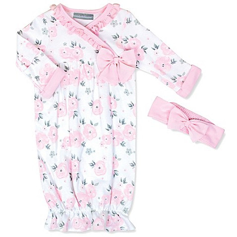 Wendy Bellissimo™ Floral Sleep Gown and Headband Set in