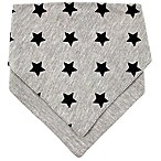 Rising Star™ Stars Reversible Bib in Grey