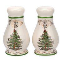 """Spode&; """"Christmas Tree"""" Gold Salt & Pepper Set"""