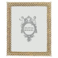 Olivia Riegel Lattice 8-Inch x 10-Inch Picture Frame in Gold