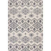 KAS Carmen Journey 2-Foot 7-Inch x 4-Foot 11-Inch Accent Rug in Ivory/Grey