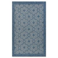 KAS Farmhouse Mosaic 5-Foot x 7-Foot 7-Inch Indoor/Outdoor Area Rug in Blue