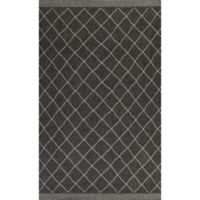 KAS Farmhouse Rustico 3-Foot 3-Inch x 4-Foot 11-Inch Indoor/Outdoor Accent Rug in Charcoal