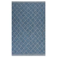 KAS Farmhouse Rustico 5-Foot x 7-Foot 7-Inch Indoor/Outdoor Area Rug in Blue