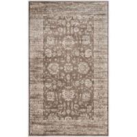 Safavieh Vintage Khyber 4-Foot x 5-Foot 7-Inch Area Rug in Brown/Ivory