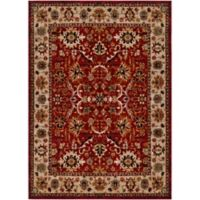 Surya Uthaca Classic 5-Foot 3-Inch x 7-Foot 3-Inch Area Rug in Dark Red
