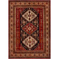 Surya Uthaca Classic Diamond 5-Foot 3-Inch x 7-Foot 3-inch Area Rug in Dark Red