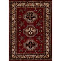 Surya Uthaca Classic 5-Foot 3-Inch x 7-Foot 3-Inch Area Rug in Dark Red/Black