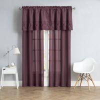 Pom Pom 84-Inch Rod Pocket Window Curtain Panel Pair in Purple