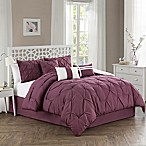 Pom Pom 7-Piece Queen Comforter Set in Purple