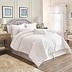 Gracie 7-Piece Reversible Queen Comforter Set in White