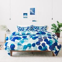 Deny Designs Amy Sia Gracie Spot Queen Duvet Cover in Blue
