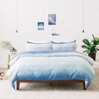 Deny Designs Amy Sia Ombre Watercolor King Duvet Cover in Blue