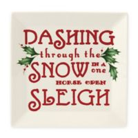 "Lenox® Home for the Holidays™ ""Dashing Through the Snow"" Square Appetizer Plate"