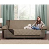 Maytex Reversible Microfiber Pet Sofa Cover in Chocolate/Tan