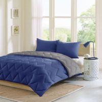 Intelligent Design Trixie 3-Piece Reversible CalKing/King Comforter Set in Navy/Grey