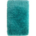 Paramount 2-Foot 2-Inch x 3-Foot 8-Inch Decorative Shag Bedside Rug in Aqua