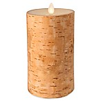 Luminara Real-Flame Effect 6-Inch Pillar Candle in Birch
