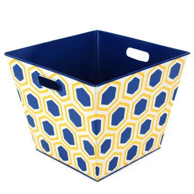 Jayeu0027s Studio Honeycomb Storage Bin In Navy/Yellow