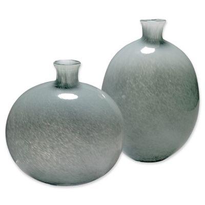 Jamie Young Minx Vases In Grey (Set Of 2)