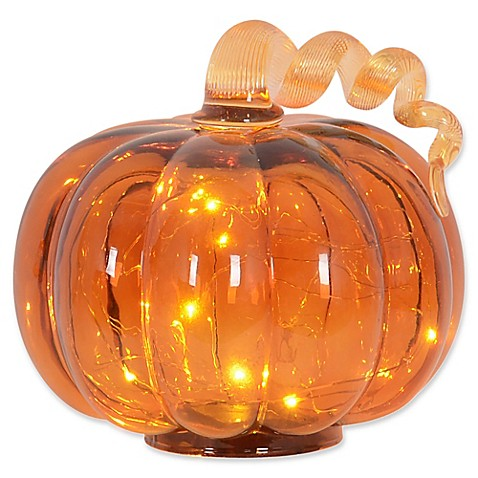 Led Glass Pumpkin Bed Bath Amp Beyond